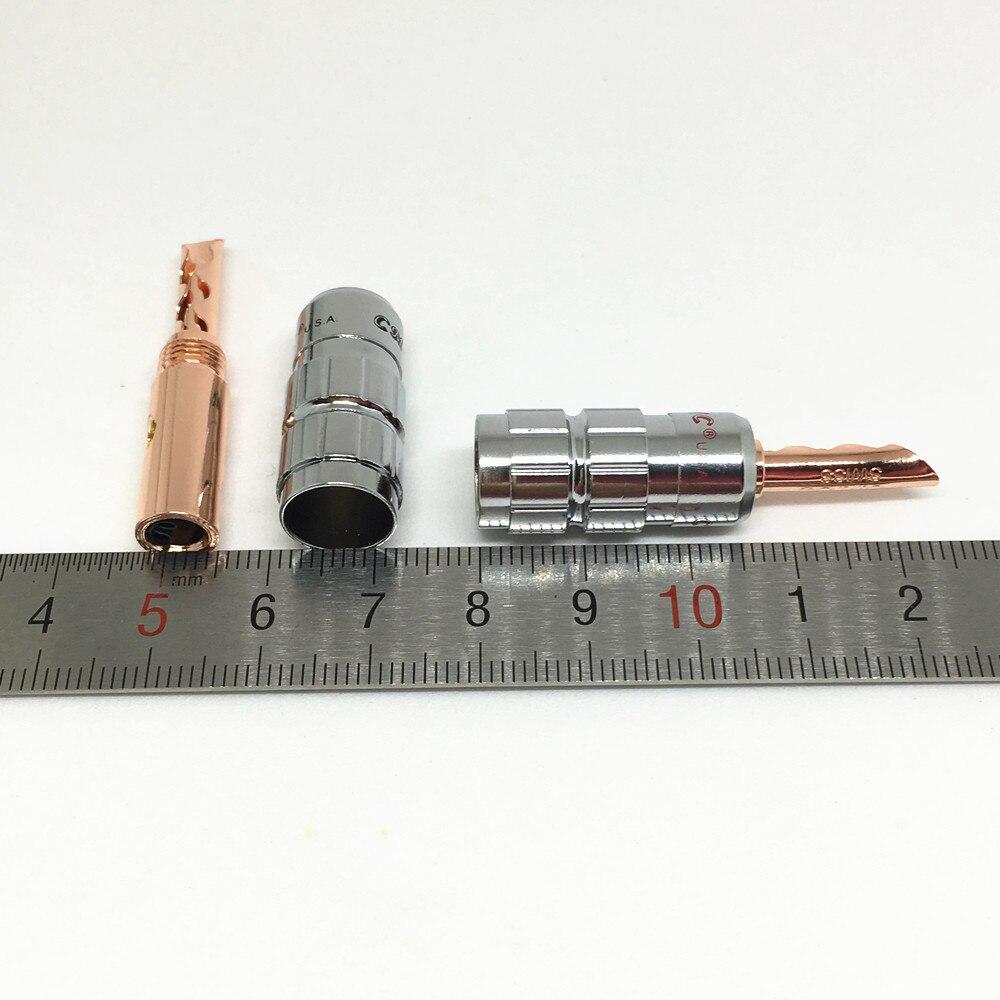 Image 4 - 8ピース真鍮cmcスピーカーケーブルジャック4ミリメートルバナナbfa男性プラグスクリューwire noはんだコネクタローズゴールドメッキsolder wire connectorconnector 4mmconnector male -
