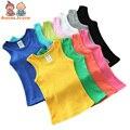 1 Pc Colete Casaul T-shirt do Esporte Do Menino da Menina das Crianças Colete de Algodão Cor Vest ATST0264 Cangy