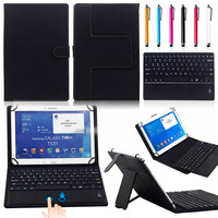 9 10.1 Universal 2 in 1 Removable wireless Bluetooth Keyboard + PU Leather Case For 9 10.1 Android /Windows Tablet PC