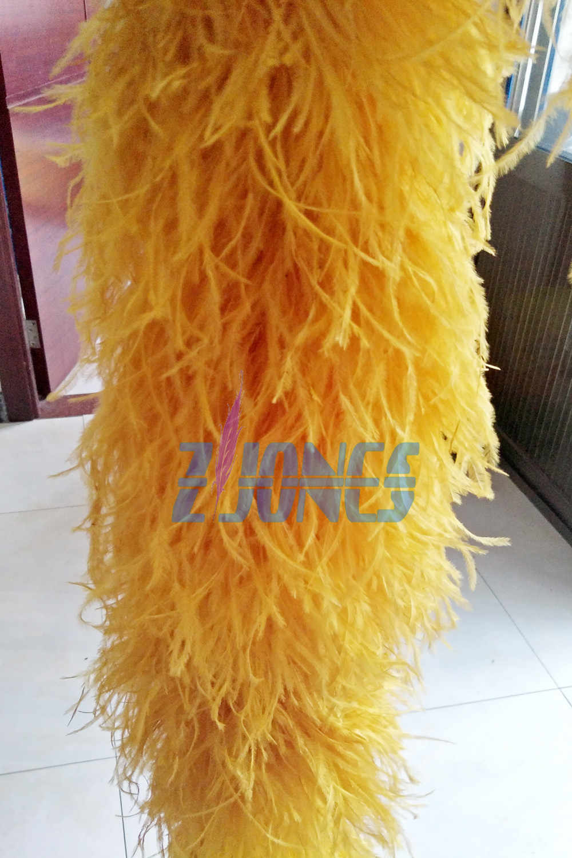 4187e9086c3 ... Super Thick Feather boa 1pcs 12ply Beautiful Gold Color Feather Boa Ostrich  Feather Boa Feather Craft ...
