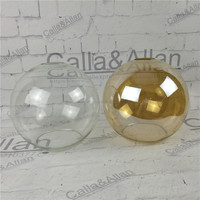 Amber/clear glass ball shade D200mm DIY lighting lampshade cone glass pendant light shade Design your own light glass shade