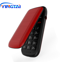Original YINGTAI T26 Feature Mini Flip phone GSM Dual Sim MTK wireless FM Quality cheap Clamshell Phone Bluetooth Free Shipping
