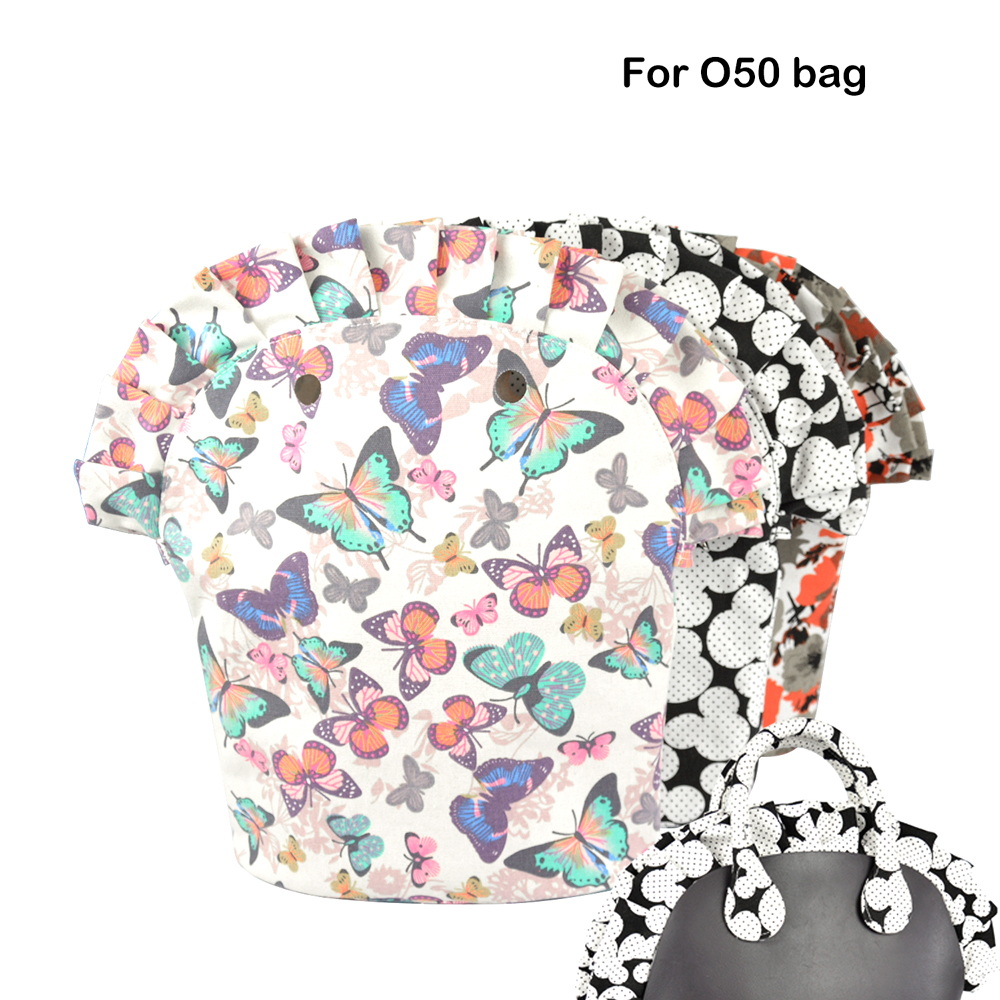 2018 Floral Frill Pleat Inner Lining Zipper Pocket For Obag 50 Advanced Insert With Waterproof Coating For O Bag 50 Women Bag