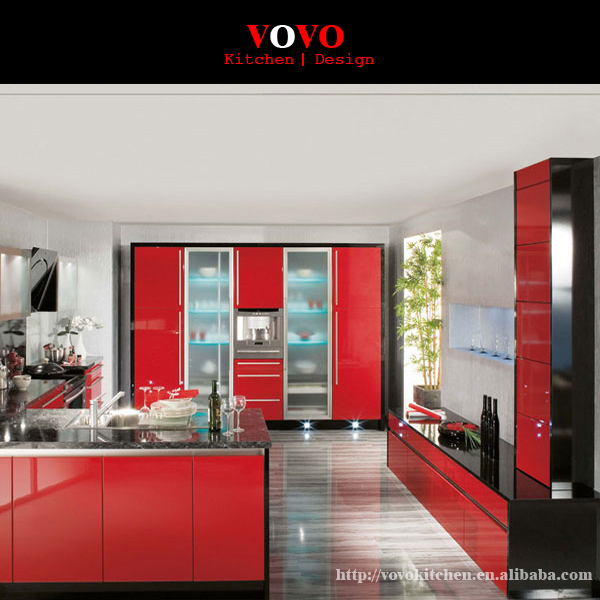 Online Get Cheap Red Lacquer Kitchen Cabinets Aliexpresscom - Lacquer kitchen cabinets