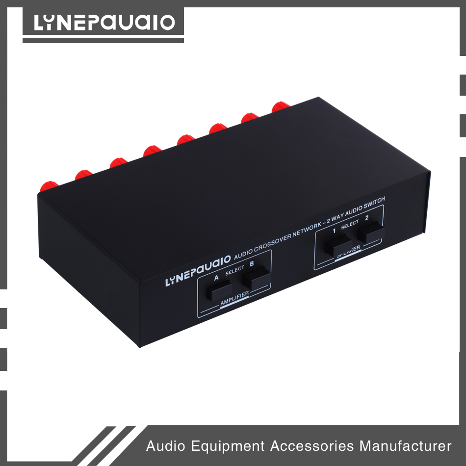 Купить с кэшбэком 2 Input 2 Output Passive Switcher Speaker Amplifier Comparator Audio Selector