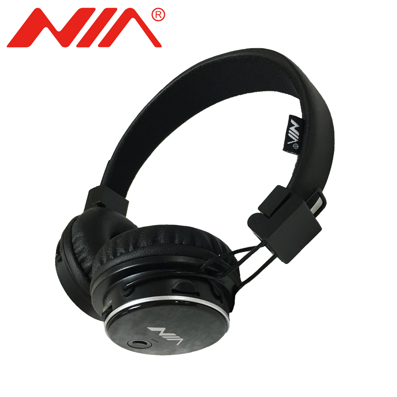 NIA Q8 Wireless Bluetooth Headphone Foldable Stereo Headsets with Mic Sport Earphone Support TF Card FM