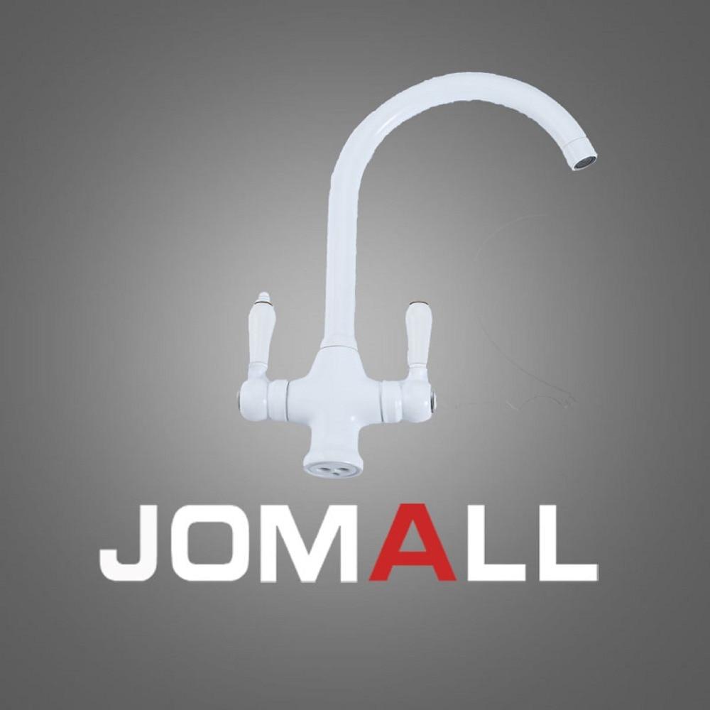Nouveau robinet blanc moderne robinet d'eau en acier inoxydable robinet de cuisine mélangeur robinet de cuisine 3 voies filtre à eau robinet