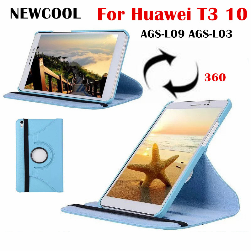 For Huawei t3 10 360 Degree rotating Folio PU Leather Case Flip Cover For Huawei MediaPad T3 10 AGS-L09 AGS-L03 9.6 tablet  Case горелка tbi sb 360 blackesg 3 м