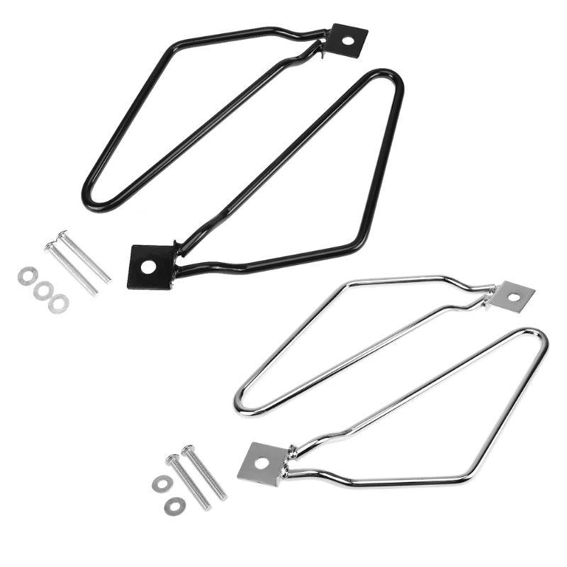 VODOOL Motorcycle Saddlebag Support Brackets Set for Harley Cruise Dyna 883 Motorbike Frame Saddle Bag Mount Brackets Kit motorcycle 16 5 cm saddle bag support bar mount bracket for honda shadow ace vt vt400 vt750