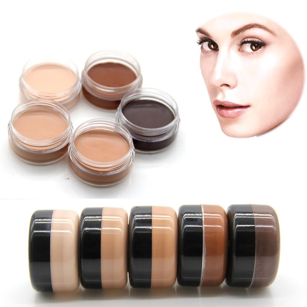 06086e08b5 Cara Antiojeras contorno crema correctiva Fundación cubierta ocultar mancha  facial bronce TINT cosmético cosmética maquiagem popfeel