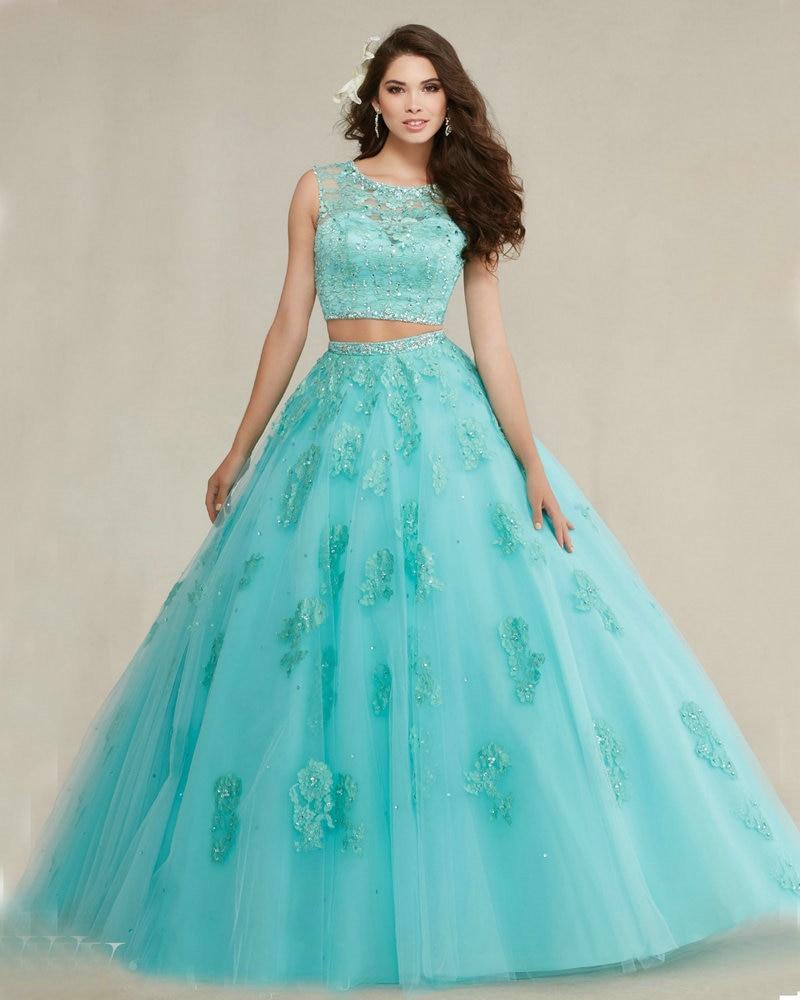 Online Get Cheap Aqua Blue Quinceanera Dresses Aliexpress