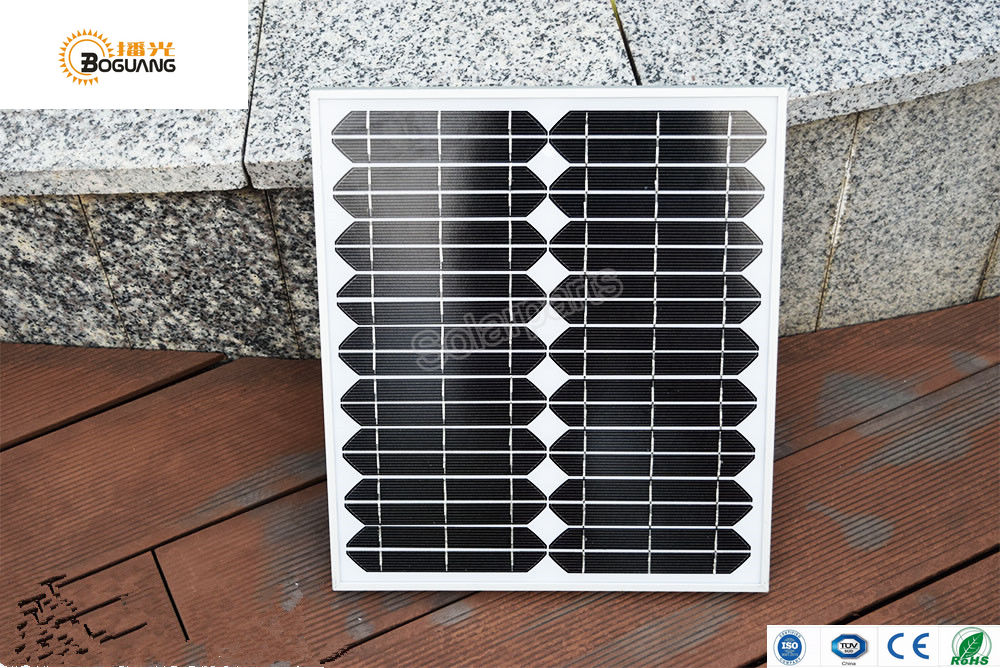 BOGUANG 20W 18V glass Laminated aluminum solar panel Monocrystalline Silicon solar cell for solar power system outdoor 410*340mm