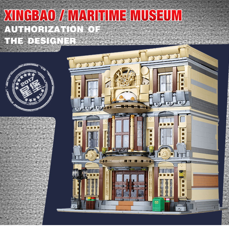 XingBao 01005 Block 5052Pcs Genuine Creative MOC City Series The Maritime Museum Set Building Blocks Bricks Toys Model DIY Gifts maritime safety