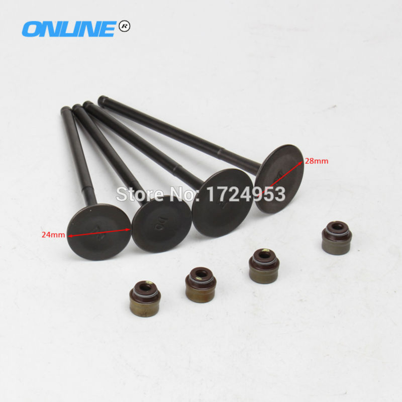 Universal NC250 engine parts valve kit for Zongshen 4 vavles Engine parts Valve IN EX and