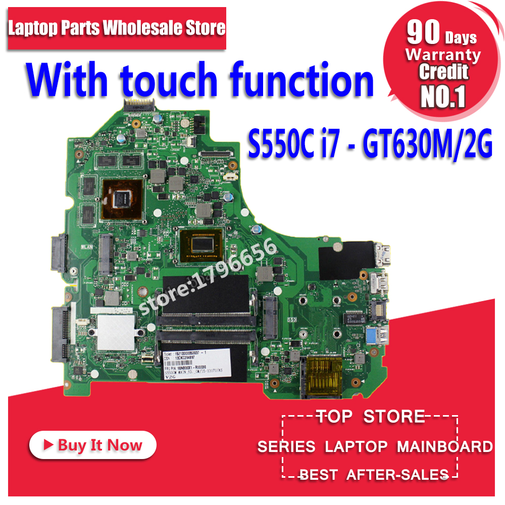 With Touch Function S550CM Motherboard I7 GT630 2GB For ASUS S550C S56C S550CB S550CM Laptop Motherboard S550CB Mainboard