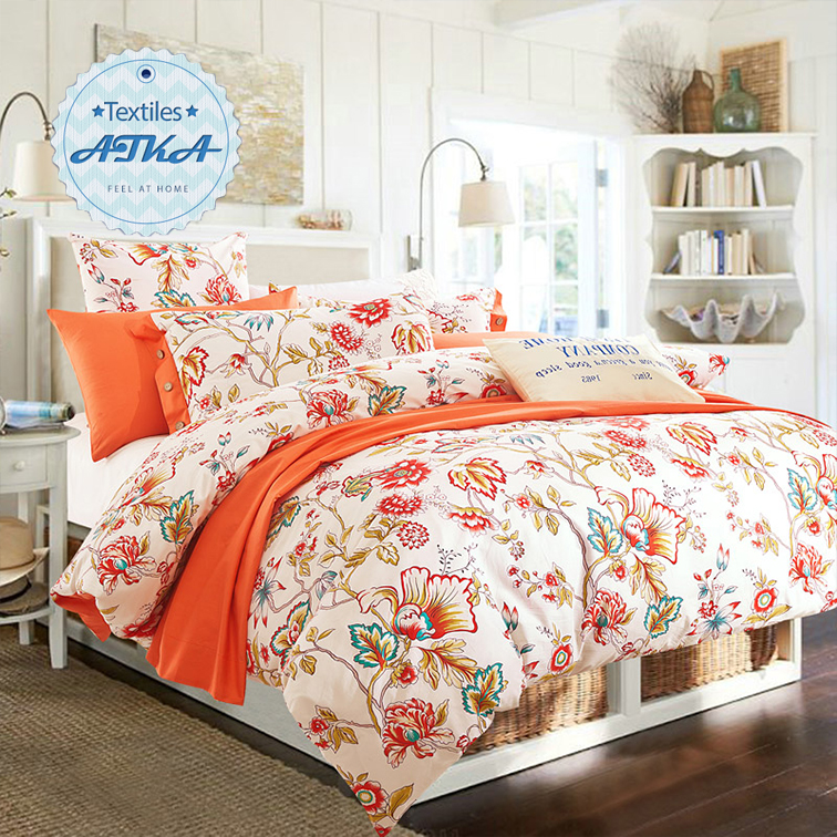 100 Cotton Bedding Sets 4pcs Queen King Duvet Cover Set