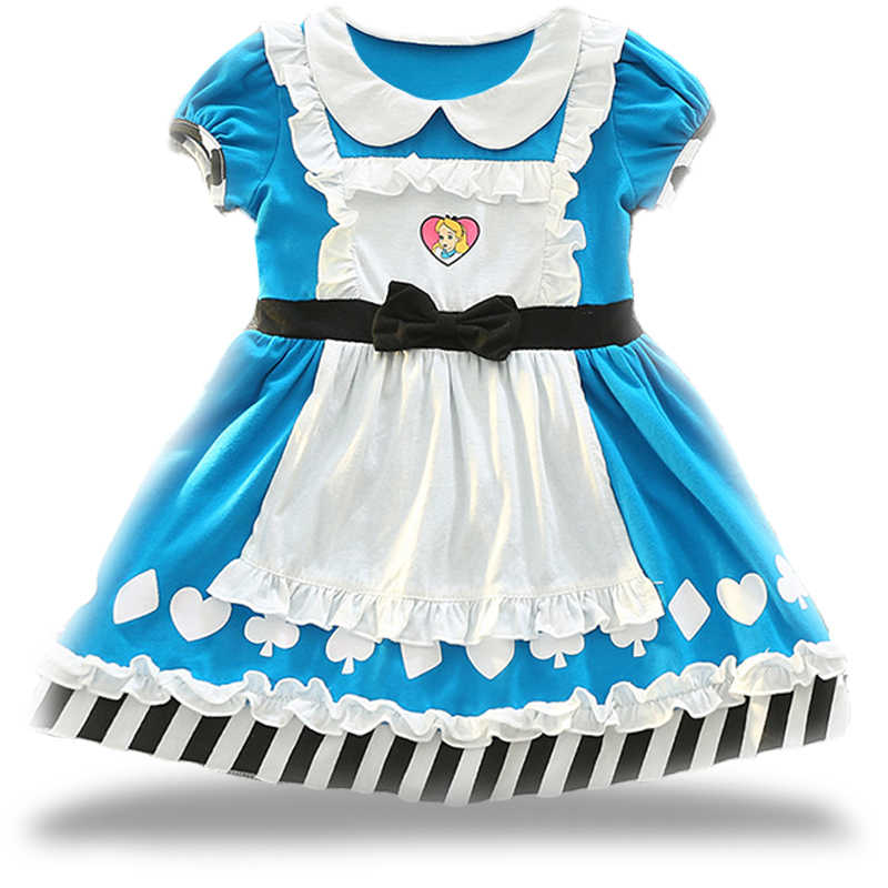 1878e9af803 Платья для маленьких девочек платья принцессы для девочек галстук-бабочка  принтом для маленьких девочек платье