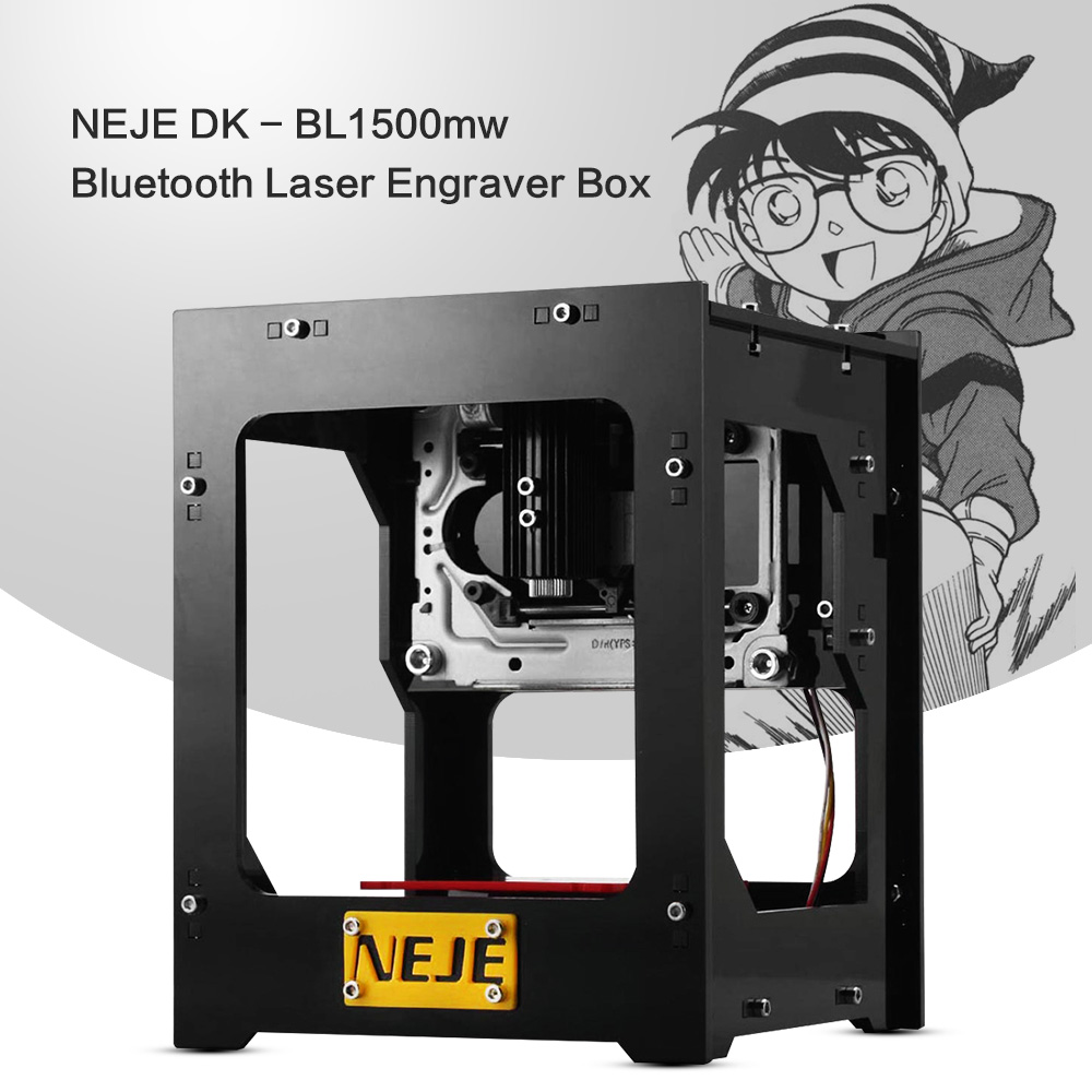 NEJE DK - BL1500mw Bluetooth Laser Engraver Box Engraving Machine Support Windows 7 / XP / 8 / 10 / iOS 9.0