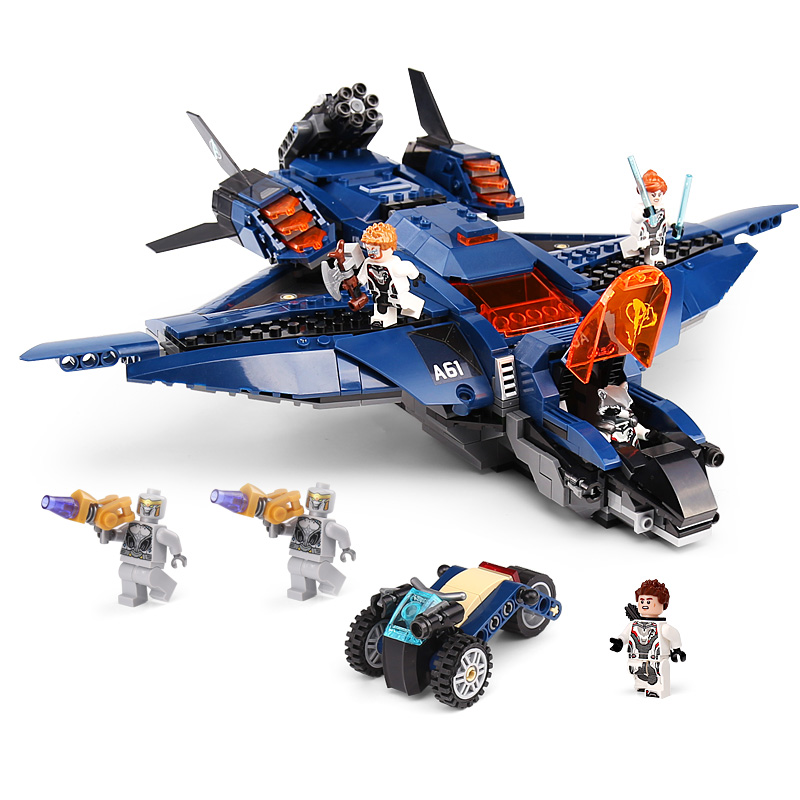 07122 Super Hero Avengerss Ultimate Quinjet Set With 76126 Building Blocks Bricks Educational Toys Christmas Gifts