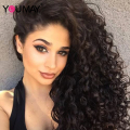 250% High Density Loose Curly Full Lace Human Hair Wigs With Baby Hair 7A Glueless Brazilian Front Lace Wigs For Black Women
