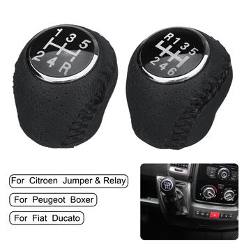 5 6 prędkość gałka zmiany biegów sport dźwignia ręczna do fiat ducato dla Citroen Jumper przekaźnik dla Peugeot Boxer 2002-2014 tanie i dobre opinie Autoleader CN (pochodzenie) 2 2inch For Citroen Fiat Peugeot 1inch PU Leather 200g Auto Gear Shifter Lever Knob 5 6 Speed