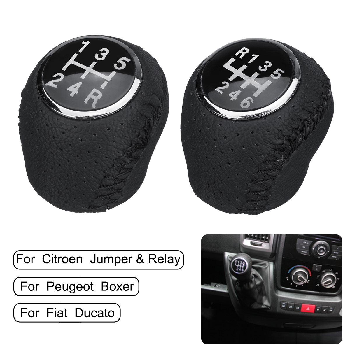 4 X Citroen Berlingo Jumper Relay Shift Gear Knob Stick Sleeve Adapter Lever