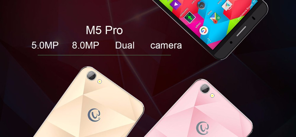 חינם במקרה Gooweel M5 Pro טלפון נייד MT6580 quad core 5 אינץ IPS החכם 1GB זיכרון RAM 8GB ROM 5MP+מצלמה 8MP GPS 3G טלפון סלולרי