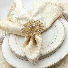 5PCS European napkin ring model room buckle cloth circle simple modern western alloy flower