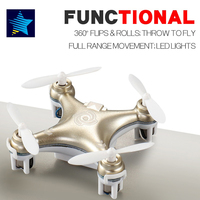 Cheerson CX-10 CX-10A Mini Drone Rc Helicopter 4CH 6 Axis RC Afstandsbediening Quadcopter met Led Licht Vliegtuigen RTF Drone