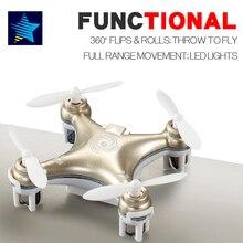 Cheerson cx-10 cx-10a mini drone rc helicóptero 4ch 6 axis rc aviones rtf drone quadcopter teledirigido con luz led