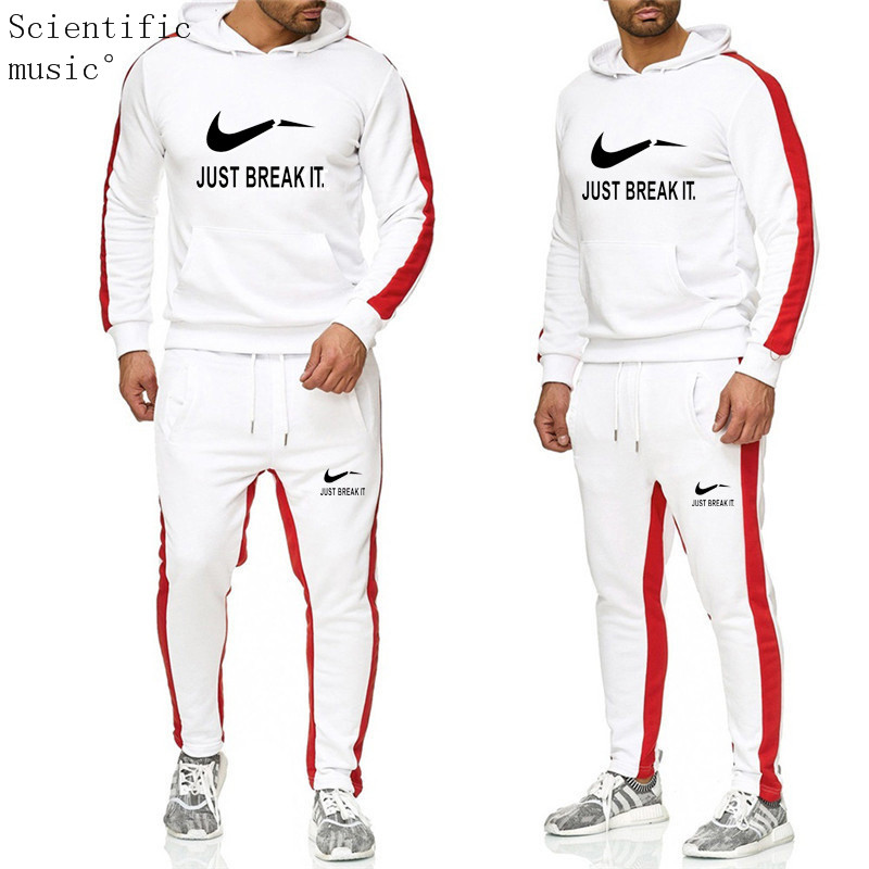 New 2019 Brand Tracksuit Men Thermal Men Sportswear Sets Fleece Thick Hoodie+Pants Sporting Suit Casual Sweatshirts Sport Suit