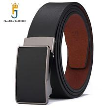 FAJARINA New Arrival Business Casual Solid Colours Cowhide Leather Belt Male No Ratchet Styles Automatic Belts for Men N17FJ431