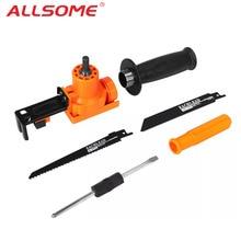 ALLSOME Reciprozaag Attachment Adapter Veranderen Elektrische Boor In Reciprozaag voor Hout Metaal Snijden HT2611