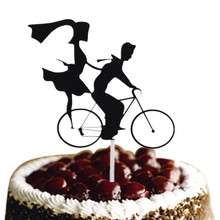 Birthday Cake Flags Boy & Girl With Bike Mr Mrs Topper Wedding Party Baking Decoration Customised Supplies