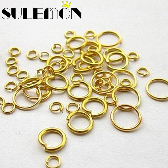Multi Size Zinc Alloy Open Jump Rings Split Ring For Jewelry Findings DIY Accessories Silver Gold Black Bronze 4 5 6 8 14mm Dia