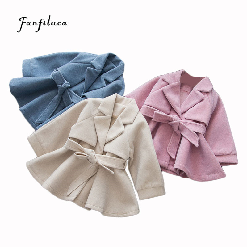 Fanfiluca Girl Overcoat Winter Baby Girls Princess Cotton Solid Autumn Ruffled Coat Fashion Windbreaker For Girl Clothing jenni new pink solid ruffled chemise l $39 5 dbfl