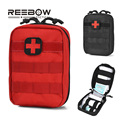 Utility First Aid IFAK Bag Only Molle Emergency Medical EMT Pouch Military Outdoor Life-saving Pack Travel Hunting Red Black