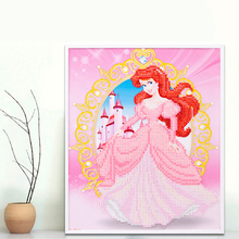 Princess Series 25*30cm Wooden Frame Mosaic 3D Puzzles For Children Pretty Girl Toys Handmade Learning DIY Gifts K054