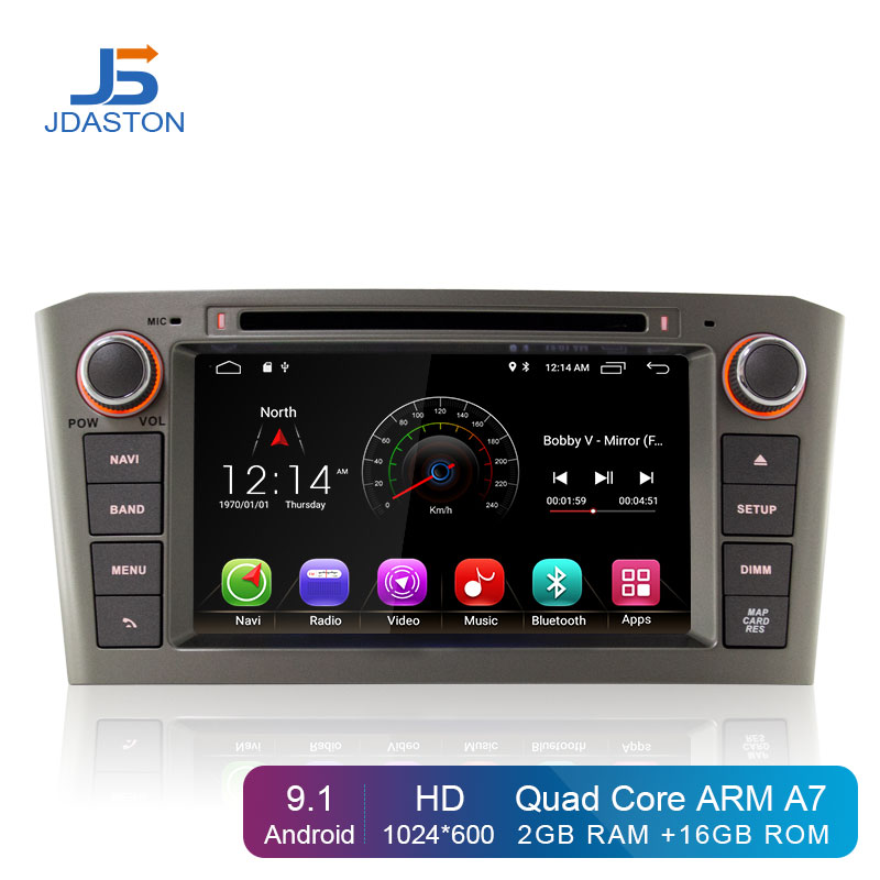 JDASTON <font><b>Android</b></font> 9.1 Car Multimedia Player For <font><b>Toyota</b></font> Avensis/<font><b>T25</b></font> 2003-2008 2 Din Car Radio GPS Navigation DVD CD IPS Stereo WIFI image