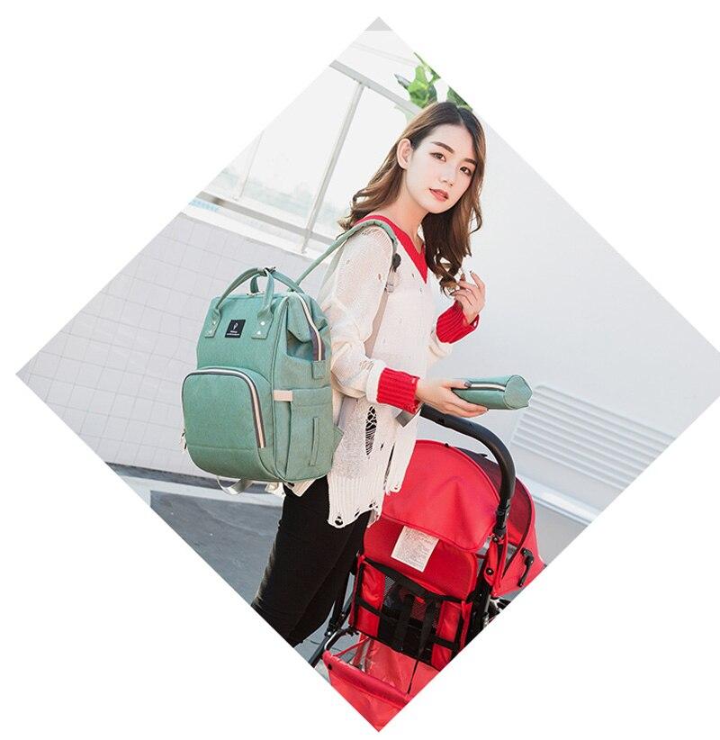 HTB1VfsRi3vD8KJjy0Flq6ygBFXa5 Baby diaper bag mommy stroller bags USB large capacity waterproof nappy bag kits mummy maternity travel backpack nursing handbag