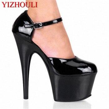 15CM thick bottom ultra high heel waterproof platform bride's shoes, model runway show shoe banquet women's Dance Shoes