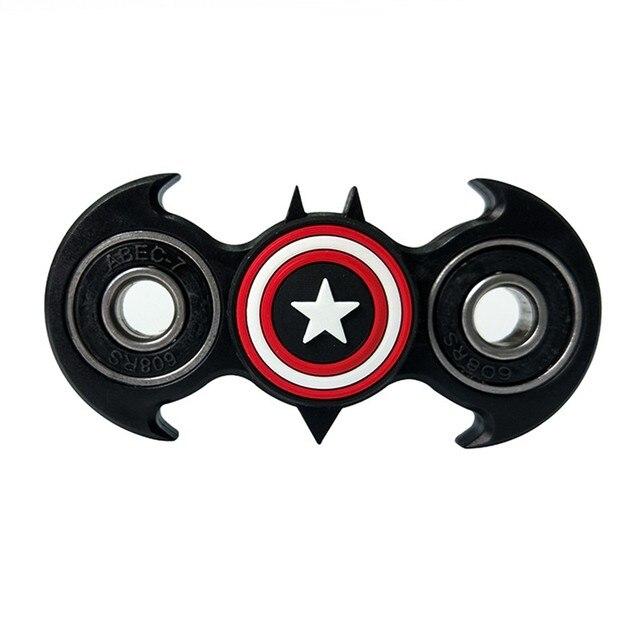 Fidget Spinner Black Batman Edc Captain Hand Spinners Vinger Spinner