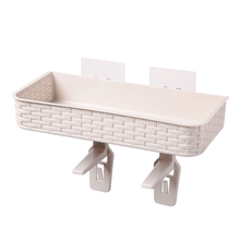 HS040  Bathroom Imitation rattan nail free seamless storage rack, toilet lid rack 36*16*23.5cm
