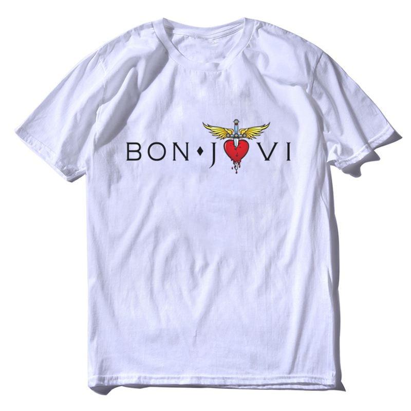 d2b3a50b09d Buy bon jovi tee and get free shipping on AliExpress.com