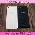"Original Battery Case for Meizu U10 5.0"" Meizu U20 5.5 inch Back Door Cover Cases+Adhesive Strips black white in stock"