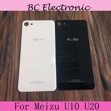 Original Battery Case for Meizu U10 5.0″ Meizu U20 5.5 inch Back Door Cover Cases+Adhesive Strips black white in stock