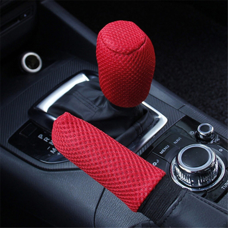 Gear Shift Knob Cover Car Universal Handbrake Grip Handle Covers Antiskid Protect Interior Auto Accessories Slip Sleeve Car