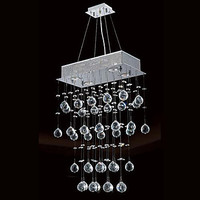 Modern LED Ceiling Light Lamps With 4 Lights And Crystal Beaded Lustre De Cristal Free Shipping