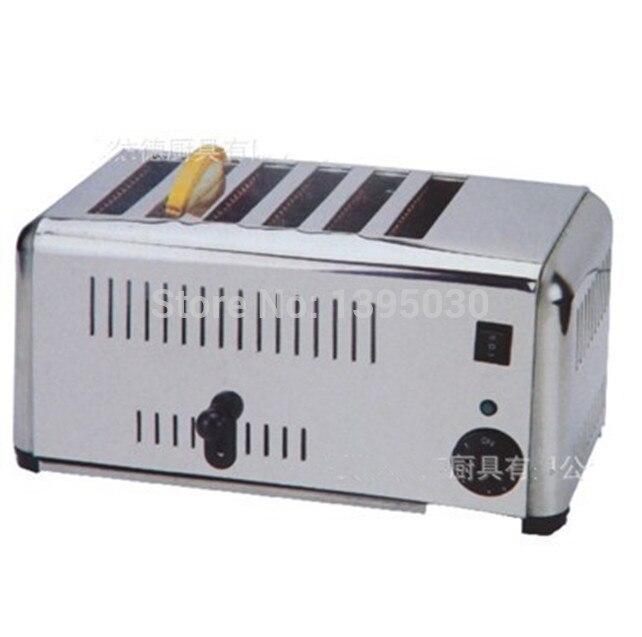 1 шт. EST 6 Бытовая Автоматическая нержавеющей стали 6 тостер хлебопечки бытовой техники