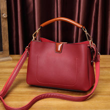 Genuine Leather Women Leather Handbags Bucket Shoulder Bags Ladies Small Ladies Shopping Bag Bolsa T30(China)